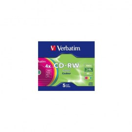 VERBATIM - CD -RW 700MB 4X SLIM 5 DATALIFE