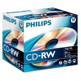 PHILIPS - CD-RW 80Min 700MB 4-12x Jewel Case